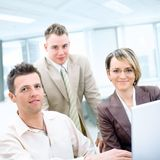 Happy Business Team Working Stock Photos