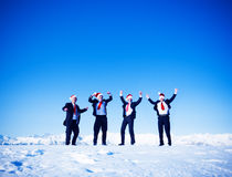 Happy Business in Wintertime Christmas Concept Stock Photography