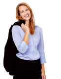 Happy business woman Royalty Free Stock Image