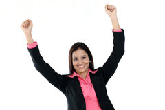 Happy business woman Royalty Free Stock Photography