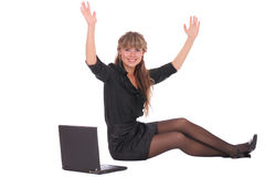 Happy business woman Stock Images