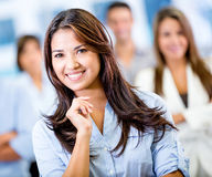 Happy business woman Stock Image