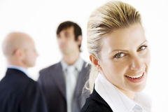Happy business woman Royalty Free Stock Images