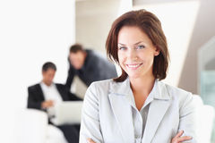 A Happy business woman Stock Photography