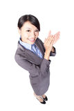 Happy business woman applauding Stock Images