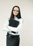 Happy business woman / assistant / secretary Stock Photography