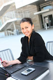 Happy Business Woman at Company royalty free stock photography