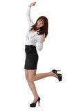 Happy business woman dancing Stock Photography