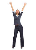 Happy business woman. Royalty Free Stock Image