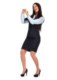 Happy business woman. Royalty Free Stock Photos