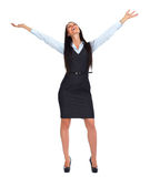 Happy business woman. Stock Photos