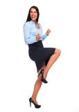Happy business woman. Royalty Free Stock Photography