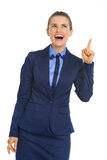 Happy business woman got idea Stock Photography
