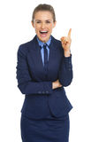 Happy business woman got idea Royalty Free Stock Photo
