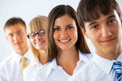 Happy business woman with her colleagues Royalty Free Stock Images