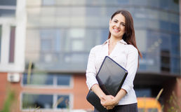 Happy business woman Stock Photography