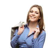 Happy business woman Royalty Free Stock Photo