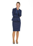 Happy business woman looking on copy space Royalty Free Stock Photography