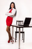Happy business woman in a office Royalty Free Stock Photography