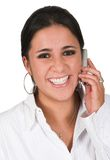 Happy business woman on the phone Stock Photo