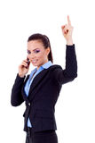 Happy business woman with phone Stock Photography