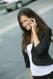 Happy business woman on the phone Stock Photography