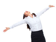 Happy Business woman. Royalty Free Stock Photo