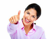 Happy Business woman. Royalty Free Stock Images