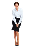 Happy business woman with short hairstyle. Stock Photography