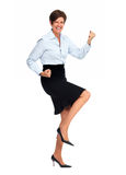 Happy business woman with short hairstyle. Royalty Free Stock Photos