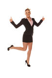 Happy business woman showing thumbs up Royalty Free Stock Images