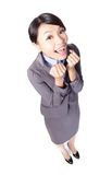 Happy business woman smile Stock Photography