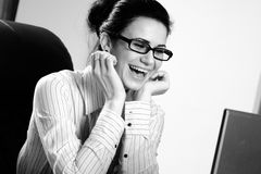 happy business woman smiling Stock Image