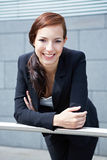Happy business woman smiling Royalty Free Stock Photos