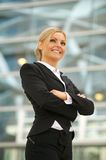 Happy business woman smiling in the city Royalty Free Stock Photos