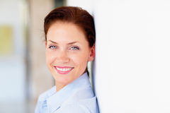 A Happy business woman smiling confidently Royalty Free Stock Photo