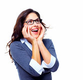 Happy Business woman. Success. Royalty Free Stock Images