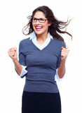 Happy Business woman. Success. Stock Photos