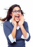 Happy Business woman. Success. Royalty Free Stock Photography