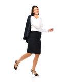 Happy business woman walking casual Royalty Free Stock Image