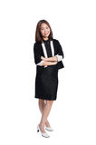 Happy business woman on white background Royalty Free Stock Images