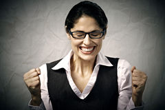 Happy business woman. Stock Photos