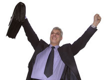 A happy businessman. One happy businessman (closer look Royalty Free Stock Photos