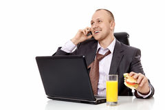 The happy businessman Stock Photography