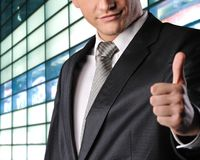 Happy businessman Stock Image