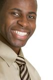 Happy Businessman. Happy african american businessman smiling Royalty Free Stock Images