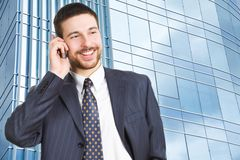 The happy businessman Royalty Free Stock Photography