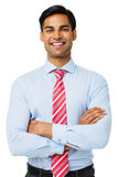 Happy Businessman With Arms Crossed Royalty Free Stock Image