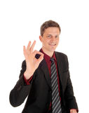Happy businessman. Royalty Free Stock Images