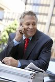Happy Businessman On A Call Stock Photo